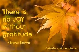 there joy without gratitude