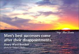 disappointment quote - about success
